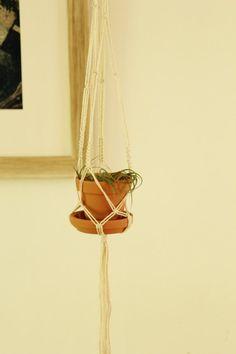 Mini #Macrame #Plant Hanger. Air Plant Holder. Tiny by #fallandFOUND