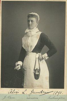 https://flic.kr/p/KsSVEY | Nurse Alice L Jandrie? 1891 Southampton