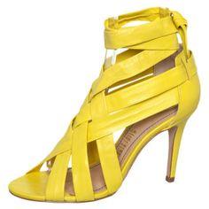 Sandália Amarração Amarela