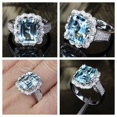 Aquamarine Engagement Ring aka my precious