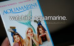 """I miss when @Taylor Adams and I used to watch it and Prez would walk in and he was like,""""Are you watching Aquamarine? I love that movie!"""" And I thought he was joking, but he was completely serious and he watched it with us. haha. I miss you, bub. R.I.P<3"""
