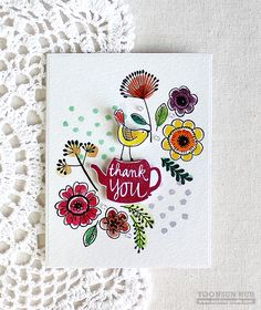 RejoicingCrafts: you. me and a cup of tea. Flora & Fauna You Me and Tea set. #handmade #card #stamping #watercolor