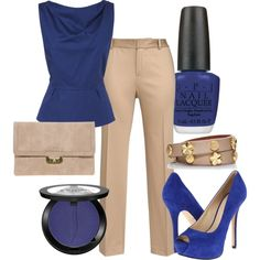 dress casual in royal blue by tanya-misener on Polyvore