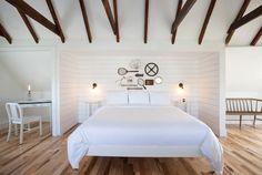 A Bedroom at the Salt House Inn