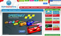 Practice adding fractions with this free Speedway game. Adding Fractions, Adding And Subtracting Fractions, Math Fractions, Math Fraction Games, 4th Grade Math Games, Math Worksheets, Middle School, Ads, Videos