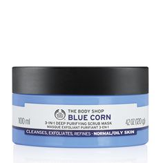 Blue Corn 3 in 1 Deep Cleansing Scrub Mask - The Body Shop