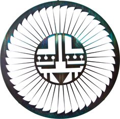 Kachina Sun Laser Cut Metal Wall Art, Teal Patina