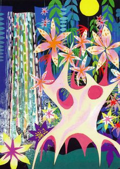 Concept Art for It´s a Small World Attraction by Mary Blair.