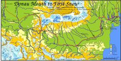 Map of The Plains of Passage Journey from the Donau mouth to First Snow