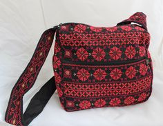 A personal favourite from my Etsy shop https://www.etsy.com/au/listing/567893548/red-embroidered-messenger-bag-handmade