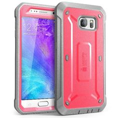 Galaxy S6 Case, SUPCASE Full-body Rugged Holster Case with Built-in Screen Protector for Samsung Galaxy S6 (2015 Release), Unicorn Beetle PRO Series - Retail Package (Pink/Gray)