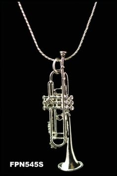 Trumpet Necklace - Silver by Harmony Jewelry, http://www.amazon.com/dp/B001JSWM08/ref=cm_sw_r_pi_dp_nMAJrb09ED4D9