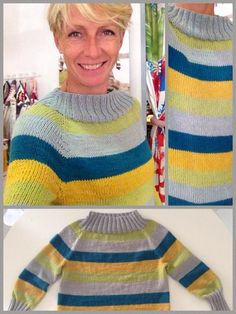 Heidi from  fiordilana in her gorgeous new jumper in  DROPSCottonMerino.  Pattern can be f6f7d515dd