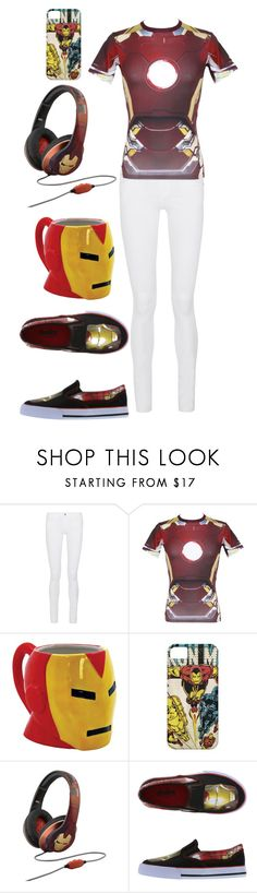 """""""Iron man"""" by pinappledancer1186 ❤ liked on Polyvore featuring Frame, Under Armour and Marvel"""