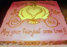 Cake Wrecks - Home - A Cinderella Story (I wonder which one has the 'tail')