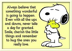 Snoopy knows what is important in life!