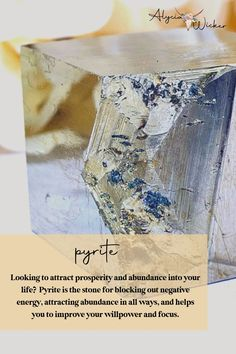 Looking to attract prosperity and abundance into your life? Pyrite is the stone for blocking out negative energy, attracting abundance in all ways, and helps you to improve your willpower and focus.