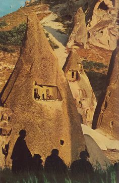 Cappadocia in the Central Anatolia region of Turkey.  National Geographic, 1970.