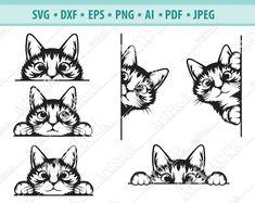 Cat Clipart, Cat Vector, Digital Ocean, Mama Cat, Diy Invitations, Art File, Halloween Cat, Cat Design, Cat Face