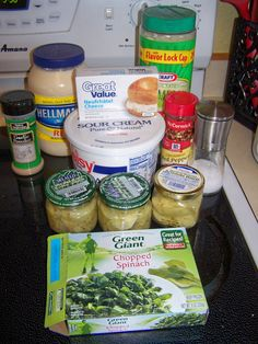Slow Cooker Artichoke & Spinach Dip. You can also bake in the oven this was a big hit!