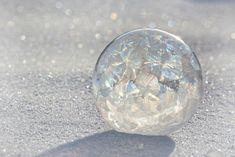 Burbujas de jabón afuera con muuuy bajas temperaturas.