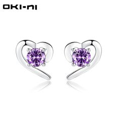 dcdd53b96 925 Silver Jewelry Earrings Trendy style Heart Stud Earrings //Price:  $13.96 &