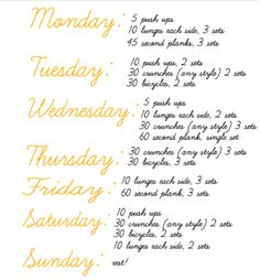 work out schedule fit fabulous #organizing