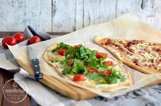 flammkuchen pizza original and mediterran {recipe} ... journey through the alphabet: F ... english translation on the blog
