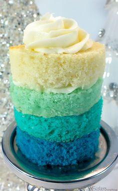 Disney Frozen Ombre Mini Cakes