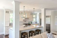 kitchen islands with support posts - Google Search More