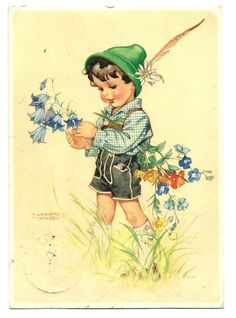 1325), Lungers-Hausen, Junge mit Trachtenhut und Lederhose, 1939 | eBay