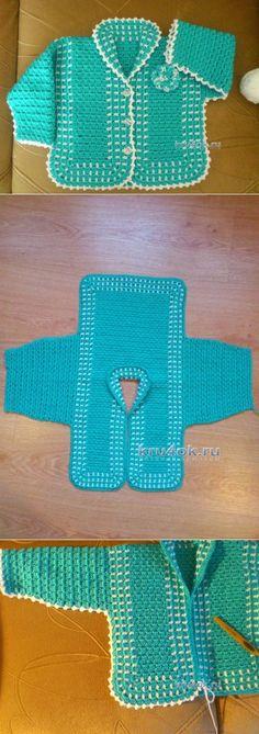 La blusa infantil por el gancho — el trabajo de Elena Aferovoy - la labor de punto por el gancho en kru4ok.ru