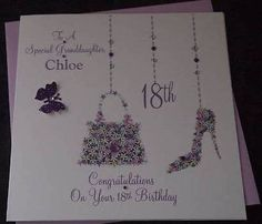 Handmade Personalised Birthday Card Granddaughter Daughter 18th 21st Any Age 30t