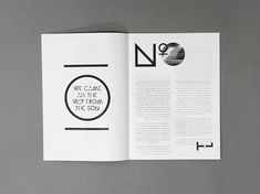 Possible use of large typographic elements as page furniture in a clean minimal layout