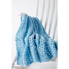 The Cluster Waves baby blanket is sure to lull your little one to sleep. Easily crocheted in Caron One Pound yarn, the cluster waves pattern is easily stitched. | Yarnspirations| Free Easy Blanket Crochet Pattern