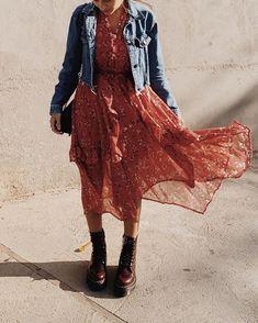 Moda Fashion, Girl Fashion, Womens Fashion, Boho Outfits, Fashion Outfits, Fashion Trends, Dr. Martens, Spring Summer Fashion, Autumn Fashion