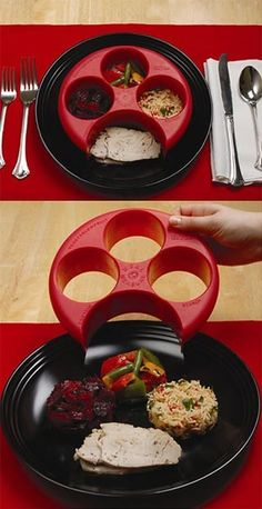 portion control..this is rad...and it separates your food! i hate when my food touches...