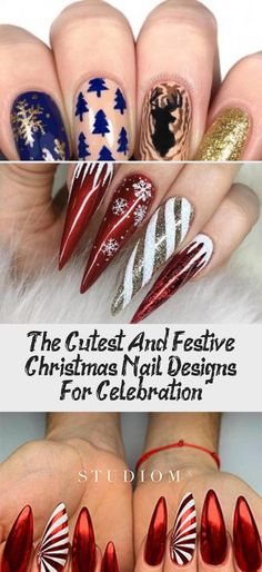 Amazing White, Fairy Dust and Snowflakes on Coffin Nails for Christmas Celebration! Christmas Gel Nails, Christmas Nail Designs, Holiday Nails, Snowflake Nail Design, Snowflake Nails, Snowflakes, White Glitter Nails, Red Nails, Striped Nail Designs