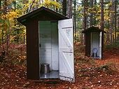 matching outhouses