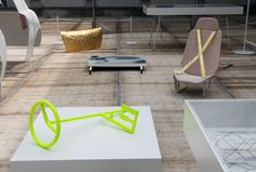 a MINI car is dissected, evaluated, and reconceptualized in 'colour one' by scholten & baijings for milan design week 2012