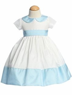 Lito Blue Flower Girl Dress Round Collar Taffeta in Girls Spring/Summer, Apparel & Accessories,Clothing,Baby & Toddler Clothing Birthday Girl Dress, Birthday Dresses, Toddler Girl Dresses, Flower Girl Dresses, Girls Dresses, Pageant Casual Wear, Spring Outfits, Girl Outfits, Wonderland