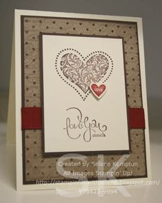 Monday, January 25, 2010  I heart Hearts by StampingSelene - Cards and Paper Crafts at Splitcoaststampers http://stampinfunwithselene.blogspot.com/2010/01/inspired.html?spref=pi