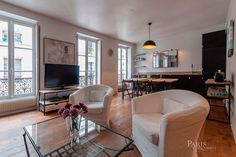 Apartment in Paris, France. Fully quiet, located one block from Cler and Saint Dominique streets, Champs de Mars, Champs Elysées Theater and Eiffel Tower, Cité de l'Alma will meet your expectations.  Apartment, 54 sqm, for 4 people on the 3rd floor without lift. It consists ...
