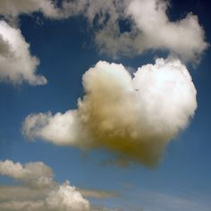 A heart in the clouds : ) **