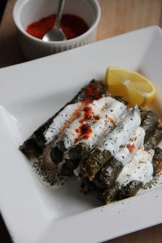 Turkish Food Recipes: Sarma Stuffed Grape Leaves. It is an epic journey to make a full pot of these. (My poor sweet granny) But definitely worths! Eat with lemon or yoğurt.