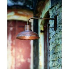 Exterior wall lamp by iL Fanale manufactured in Italy from a combination of solid copper and brass. iL Fanale uses a process on all of their outdoor lamps that results in a beautiful and natural ag . Barn Lighting, Home Lighting, Outdoor Lighting, Lighting Design, Outdoor Decor, Club Lighting, Copper Lighting, Backyard Lighting, Antique Lighting