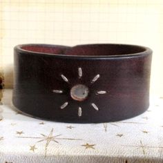 Recycled Leather Men's Cuff Bracelet on Etsy, $10.00