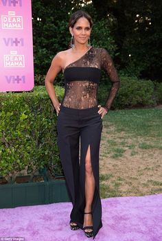 Lacy lady! Halle's saucy offering came after she sent pulses racing with a sexy jumpsuit at VH1's event, Dear Mama: An Event To Honor Moms