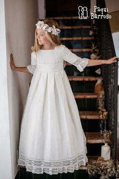 Girls Lace Dress, Girls Pageant Dresses, Little Girl Dresses, Baby Dress, Flower Girl Dresses, Flower Girls, Party Dresses, Première Communion, Holy Communion Dresses