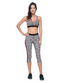 SPORTY PRINTED RACERBACK BRA - Juicy Couture